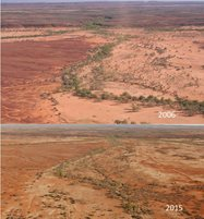 The creek south of Meetuka waterhole showing some return of condition, but held back by stock incursions.<br/>