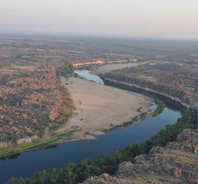 The Fitzroy River winds through Bunuba Country. Photo BDAC.