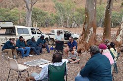 Nantawarrina IPA rangers during a healthy country planning workshop.