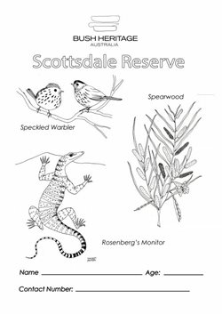 Colouring in sheet for Scottsdale Reserve (NSW)