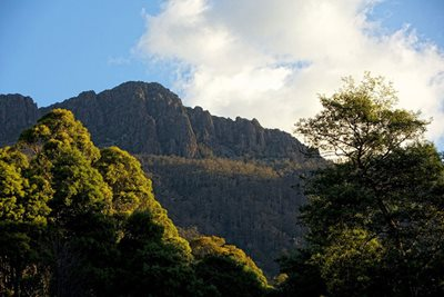 Drys Bluff towers above the Liffey Valley. Photo Peter Morris.
